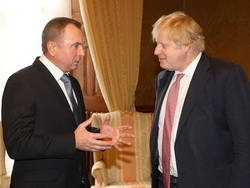 Глава МИД Беларуси Владимир Макей в Лондоне